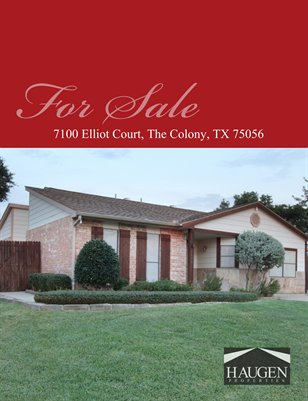 Haugen Properties - 7100 Elliot Court, The Colony, TX 75056