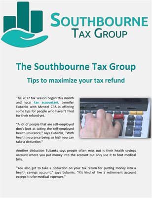 The Southbourne Tax Group: Tips to maximize your tax refund