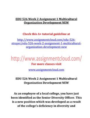 EDU 526 Entire Course NEW