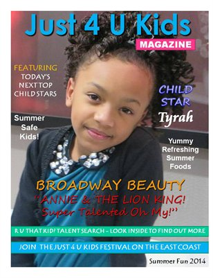 Just 4 U Kids Magazine Summer Edition 2014 - Cover 2