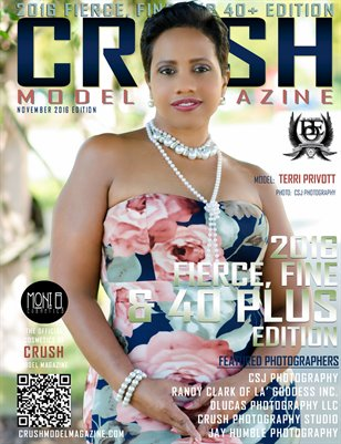 CRUSH MODEL MAGAZINE 2016 FIERCE, FINE AND 40+ EDITION