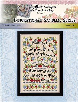 Psalm 17:8 Cross Stitch Pattern
