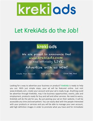 Let KrekiAds do the Job!