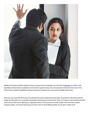 Wallace Associates Inc: Essential way of looking at sexual harassment