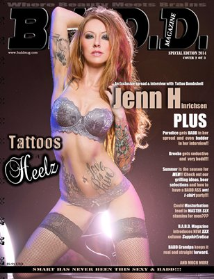B.A.D.D. Magazine: Tattoos & Heelz (Jenn Hinrichsen Cover)