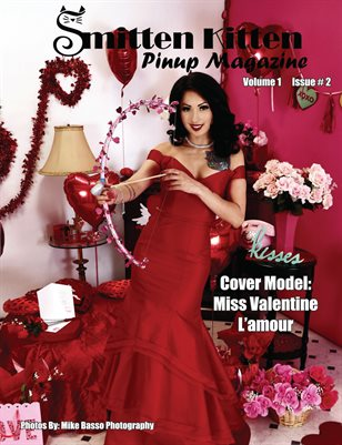 Smitten Kitten Pinup Magazine Cover 1 Miss Valentine L'amour February 2020 Issue