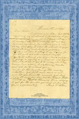 1848 Letter from Jane Allen to brother Webb Branham