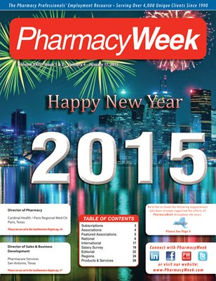 Pharmacy Week, Volume XXIV - Issue 1 & 2 - January 4 - January 17, 2015