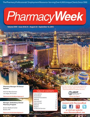 Pharmacy Week, Volume XXIV - Issue 30 & 31 - August 23 - September 12, 2015