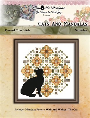 Cats And Mandalas November Cross Stitch Pattern