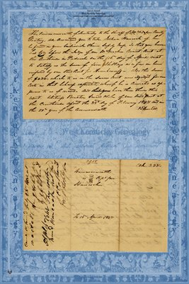 1842 Commonwealth of Kentucky vs. Joshua Hancock, McCracken County, Kentucky