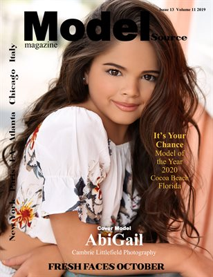 Model Source magazine Issue 13 Volume 11 2019 Fresh Faces October
