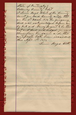 (PAGES 3-4) 1876 DEED H.A. BRYANT TO J.A. & C.C. GRAHAM