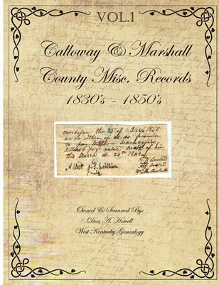 1830's - 1850's Marshall & Calloway Misc. Records