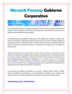 Mossack Fonseca Gobierno Corporativo