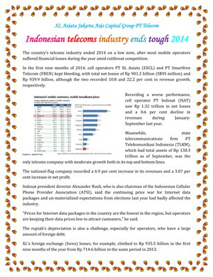 Indonesian telecoms industry ends tough 2014