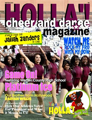 HOLLA'! Cheer and Dance Magazine Winter 2016 Issue