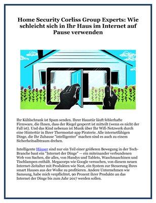 Home Security Corliss Group Experts: Wie schleicht sich in Ihr Haus im Internet auf Pause verwenden