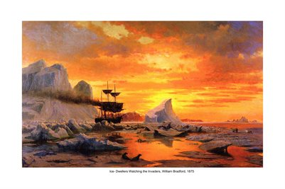 Ice Dwellers Watching the Invaders, William Bradford 1875