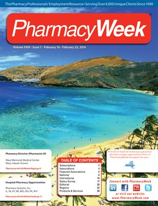 Pharmacy Week, Volume XXIII - Issue 7 - February 16 - February 22, 2014
