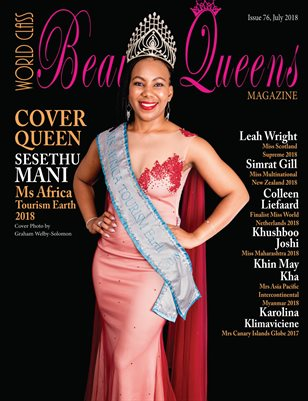 World Class Beauty Queens Magazine Issue 76 with Sesethu Mani