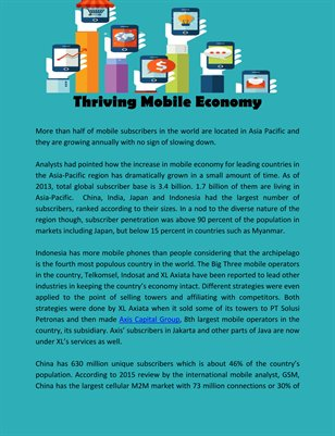 Thriving Mobile Economy