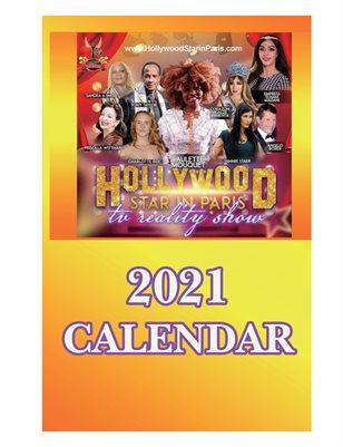 CALENDAR 2021 HOLLYWOOD STAR IN PARIS