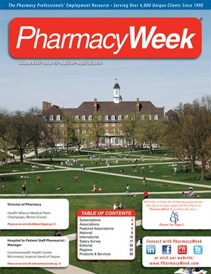 Pharmacy Week, Volume XXIII - Issue 15 - April 20 - April 26, 2014