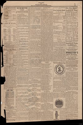 (PAGES 3-4 )  JANUARY 21, 1882 MAYFIELD MONITOR NEWSPAPER, MAYFIELD, GRAVES COUNTY, KENTUCKY