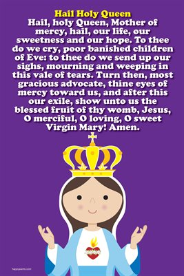 Happy Saints Hail Holy Queen Prayer Poster