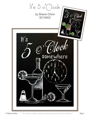 It's 5 o'Clock Somewhere Painting Pattern Tutorial by Sharon Chinn - SC16002