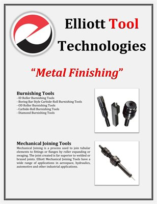Elliott Tool Technologies: Metal Finishing
