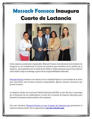 Mossack Fonseca Inaugura Cuarto de Lactancia