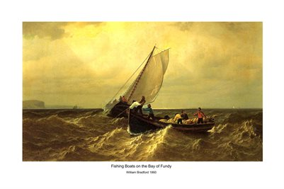 POSTERS: Fishing Boats on the Bay of Fundy. William Bradford, 1860
