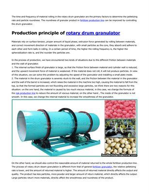 Controlling the rotary drum granulator to improve the particle roundness