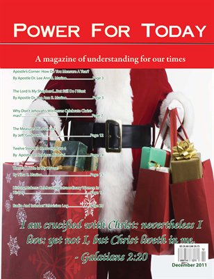 Power For Today Magazine, December 2011