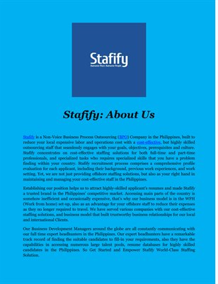 Stafify: About Us