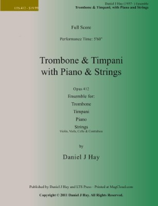 Trombone & Timpani; with Piano & Strings