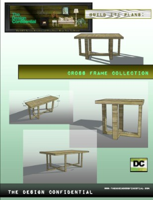 Cross Frame Collection: Coffee Table