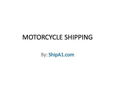Motor Cycle Shipping