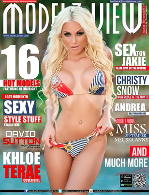 MODELZ VIEW MAGAZINE SEPTEMBER 2013 - COVER GIRL - KHLOE TERAE