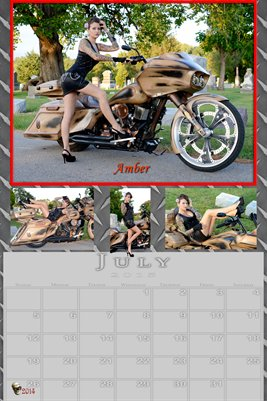 Amber Miss July 2015 poster