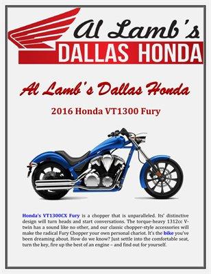Al Lamb's Dallas Honda: 2016 Honda VT1300 Fury
