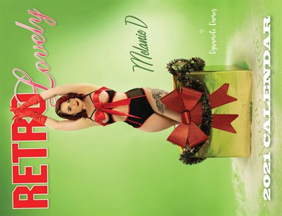 Retro Lovely Official Dynamite Dames Calendar Melanie D Cover