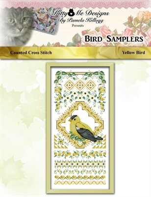 Bird Samplers Yellow Bird Counted Cross Stitch Pattern