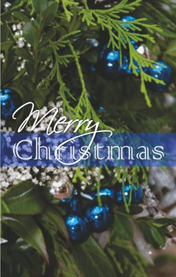 Merry Christmas: Blue Ornaments