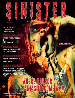 SINISTER Magazine-Issue #2-Craven Sic Cover
