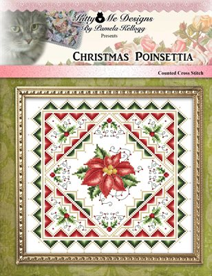 Christmas Poinsettia Counted Cross Stitch Pattern