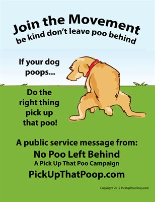 Pick Up That Poo! Flyer