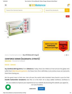 Buy Cenforce 120 for ED